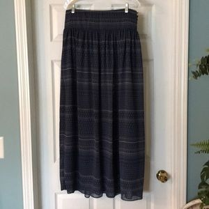 NWT Gap Maxi blue and tan skirt size 8
